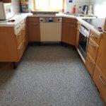 Marmorfußboden in der Küche